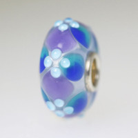 Blue Purple Budded Bead