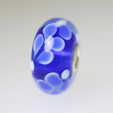 Blue Flower Unique Bead