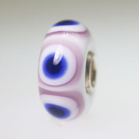 Opaque White & Blue Bead