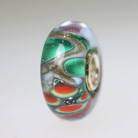 Abstract Green Unique Bead