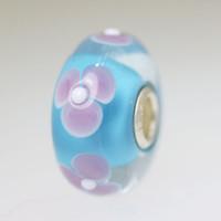 Aqua Flower Unique Bead