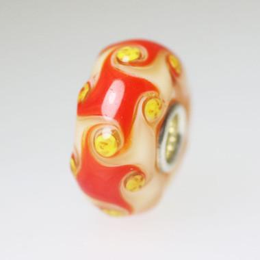 Red Harlequin Unique Bead