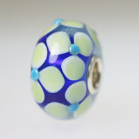 Blue Flower Unique Bead