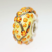 Yellow & Orange Unique Bead