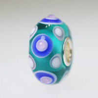 Aqua Circles Unique Bead