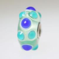 Blue & Aqua Budded Bead