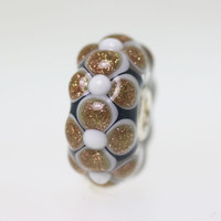 Glitter Flower Unique Bead