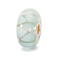 Light Blue Shadow Trollbeads Glass Bead