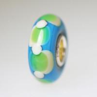 Opaque Aqua Unique Bead