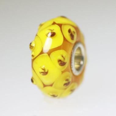 Yellow Budded Bead