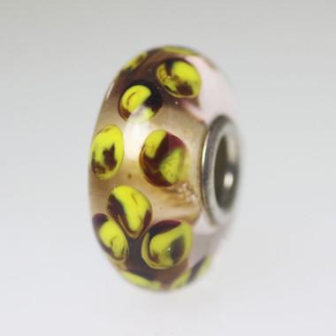 Yellow Dot Unique Bead