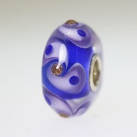 Blue and Lavender Unique Bead