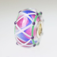 Blue & Pink Unique Bead