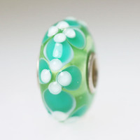 Aqua Budded Unique Bead