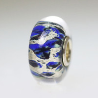 Blue Abstract Bead