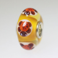 Orange Turtle Unique Bead