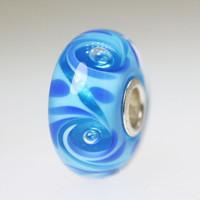 Aqua Blue Bubble Bead