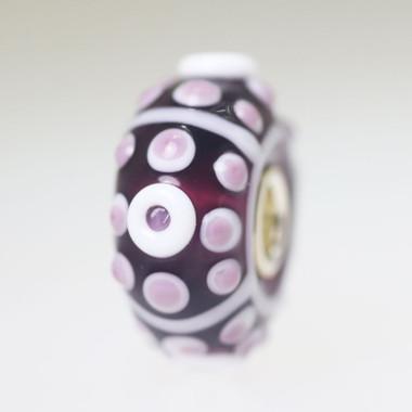Purple Budded Unique Bead