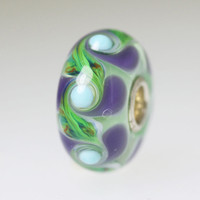 Green & Purple Swirl Bead