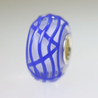 Blue Webbed Unique Bead