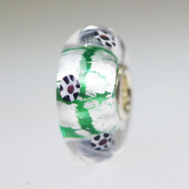 Green and Foil Unique Bead