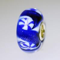 Blue & White Unique Bead