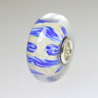 Blue Abstract Unique Bead