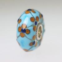 Aqua Clover Design Bead
