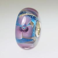 Aqua Based Flower Bead