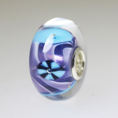 Purple & Aqua Unique bead