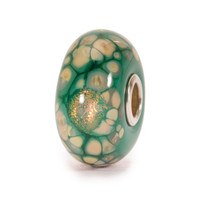 Green Flower Mosaic Glass Trollbeads