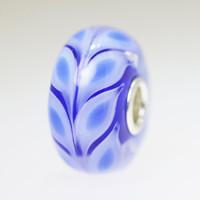 Blue Leaves Bead