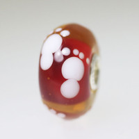 Red Footprints Bead