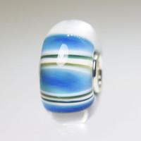 Light Blue Stripe Bead