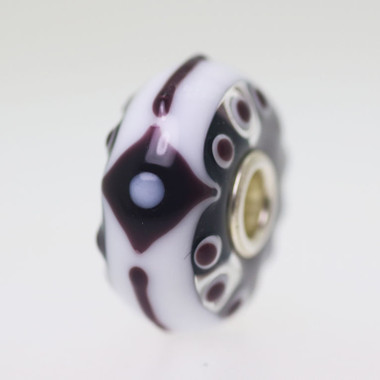 Brown and White Bead