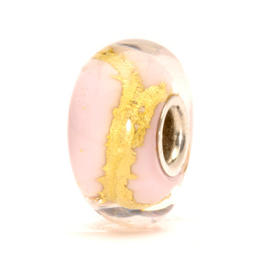 Pink Gold Glass Trolbeads