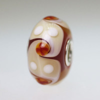 Rust Red & Cream bead