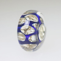 Blue & Ivory Bead