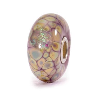 Purple Flower Mosaic Glass Trollbeads