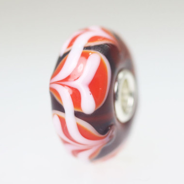 Red and White Unique Bead