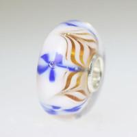 Blue & white bead