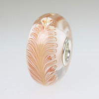White Based Feather Bead