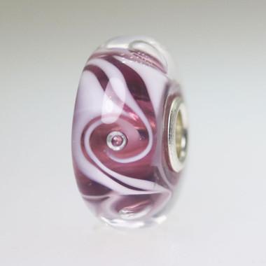 Purple Swirl Bead