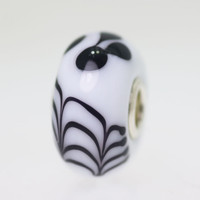 Opaque White Bead Black Details