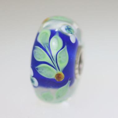 Blue Vine Unique Bead