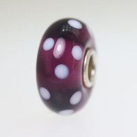 Purple Polka Dot bead