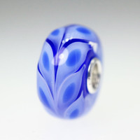 Blue Fern Unique Bead