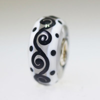 Black and White Unique Bead