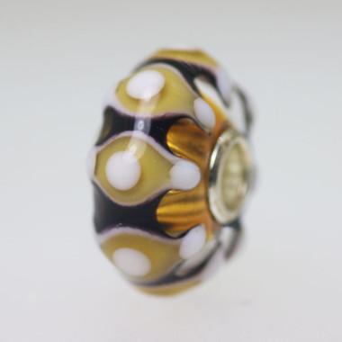 Amber Toned Glass Bead