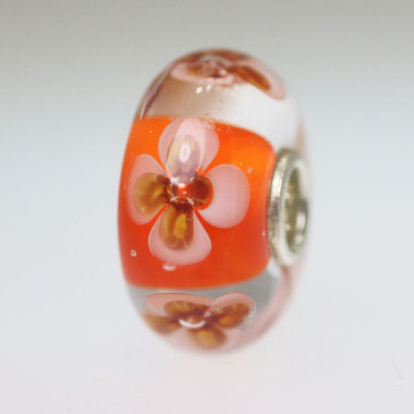 Orange Flower Bead